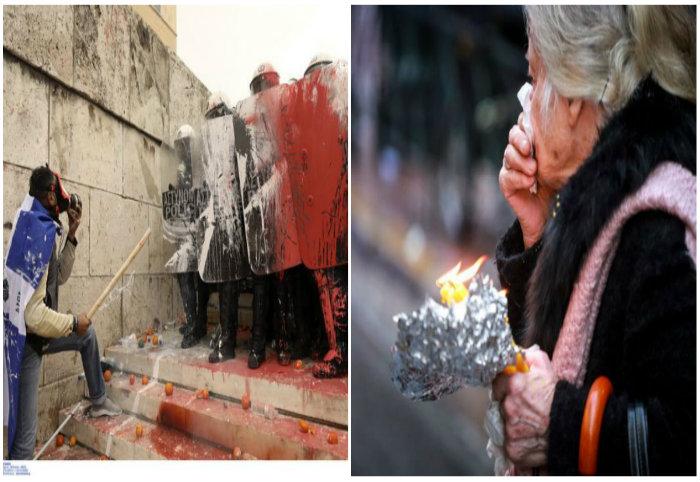 Άγριες συγκρούσεις και τραυματίες στο συλλαλητήριο για το Μακεδονικό. ΕΛ.ΑΣ: 60.000 οι διαδηλωτές στο Σύνταγμα – Οι διοργανωτές μιλούν για 600.000…